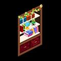 圣诞节 墙壁书柜.png