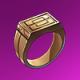 铜戒指(紫)
