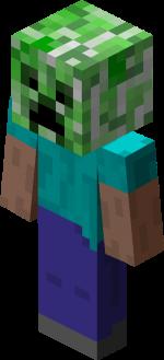 Steve wearing Creeper Head.png