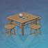 木制露天茶桌