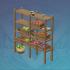 垂香木厨房货架