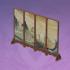 松木折屏-「云来帆影」