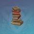 整齐叠放的书本