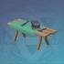 重型杉木锻造桌