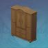 高大的桦木衣柜
