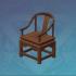 松木靠背茶椅