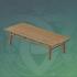 宽大的松木长桌