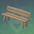 平整的木制长凳
