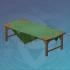 菱形桌布的长桌
