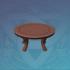 垂香木朱漆圆桌