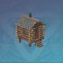 袖珍松木小屋