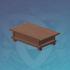木纹雅致的书法桌案