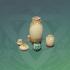 硬面彩陶罐