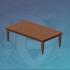 厚重的图书馆长桌