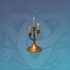 金色三重烛台