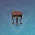 松木朱漆圆凳